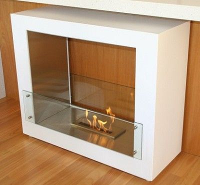 EF-F02 stainless steel double side free standing ethanol fireplace with a 16 inch ethanol burner
