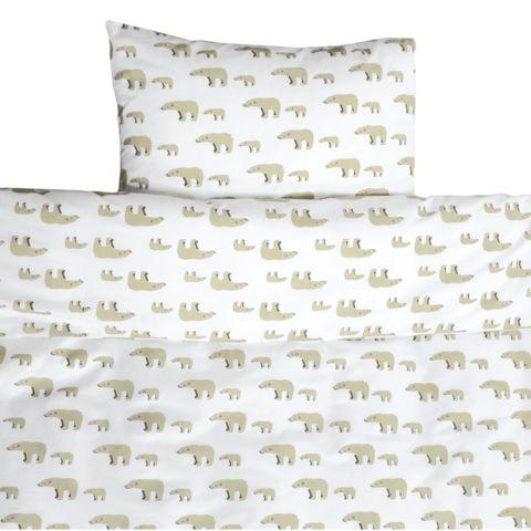 Bear toddler cot bed duvet set