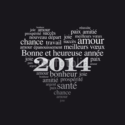 Bonne année, carte de voeux 2014