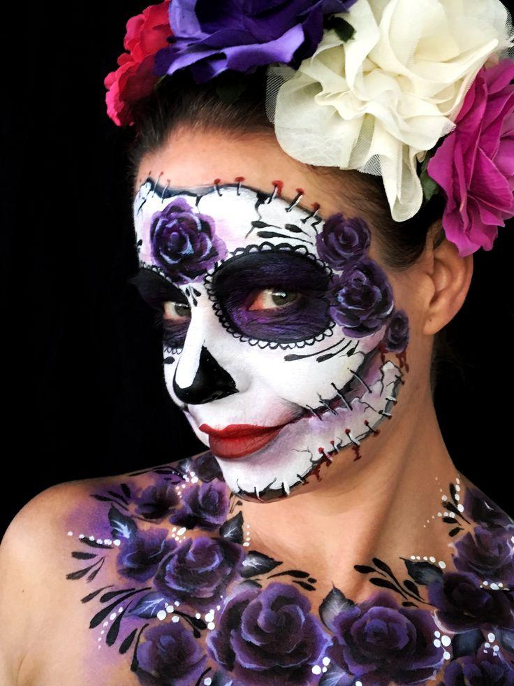 Sugar skull face paint by Kristin Olsson