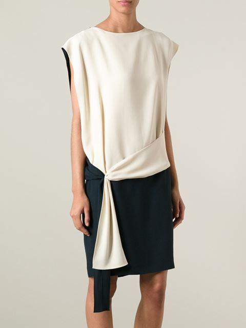 Chloé Draped Detail Dress - Vitkac - Farfetch.com