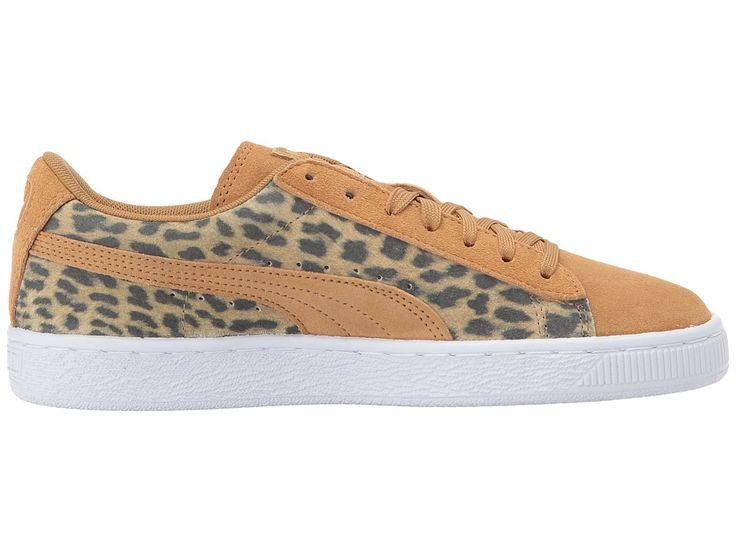 Puma Kids Suede Animal (Big Kid) Girls Shoes Apple Cinnamon/Puma Team Gold