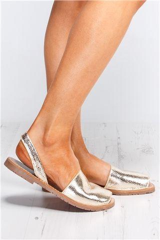 Selena Gold Espadrille Sandals at misspap.co.uk