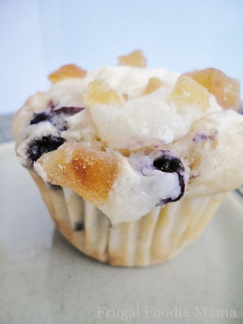 Blueberry Lemon Cream Muffins