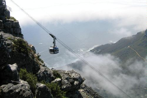 The cable car to Table Mountain
