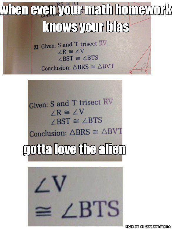 math homework vs kpop | allkpop Meme Center