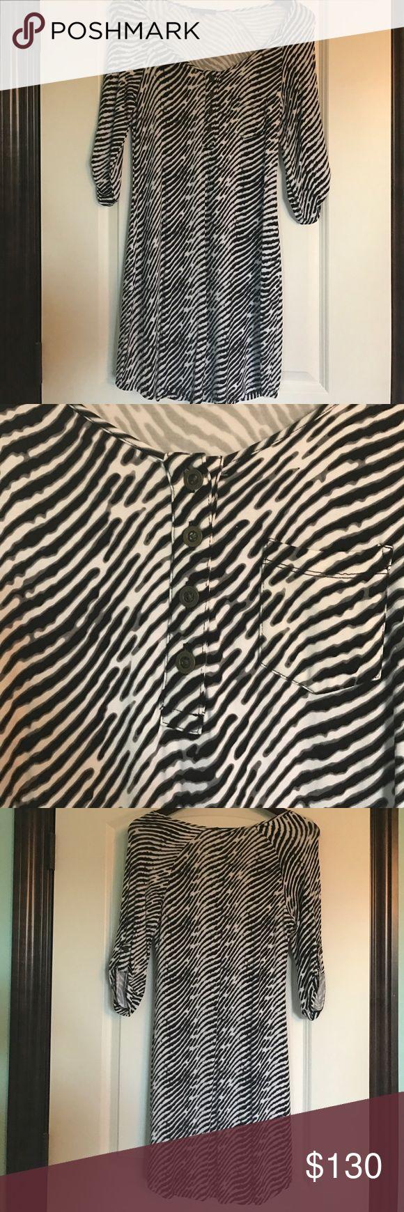 Tart Zebra Print Dress Zebra Print daytime dress in great condition. Comfortable fabric; easy to work in. Dresses Midi