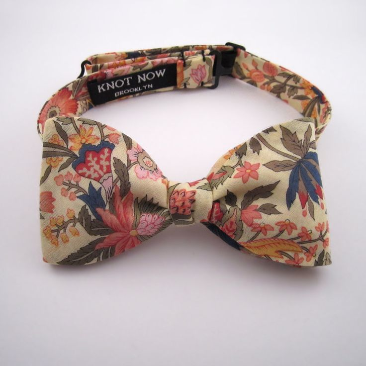 Men's Bow Tie - Lemon Floral Cotton