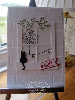 Stampin Up UK Demonstrator UK Pegcraftalot Order Stampin Up HERE: Happy Scenes and Hearth and Home plus - SU - Christmas