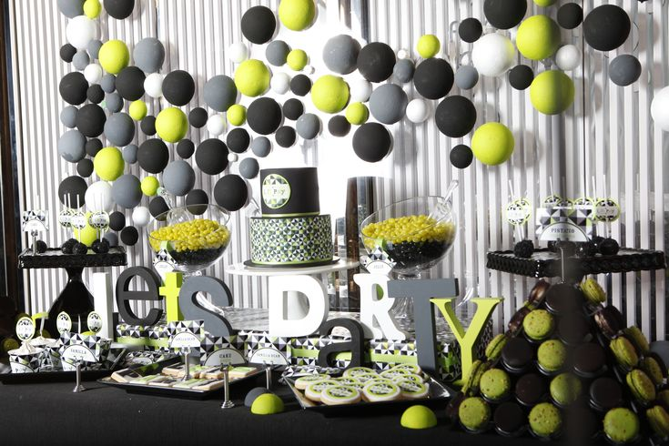 A Modern Geometric Birthday Party Celebrating A Man S 50th