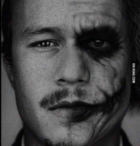 Legends live on. Heath Ledger as the Joker <3
