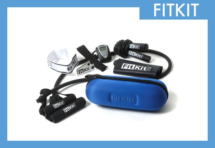 FitKit has all the tools for a total body workout and comes in a sleek, portable case!