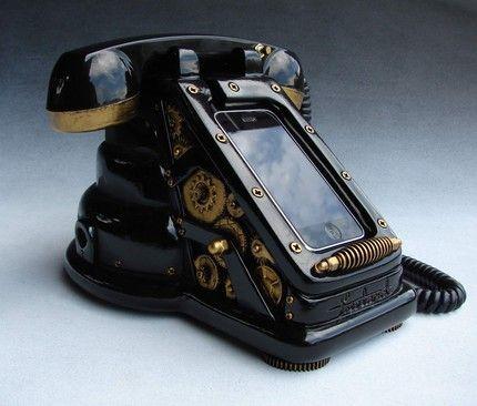 iRetrofone Steampunk – Black/Gold