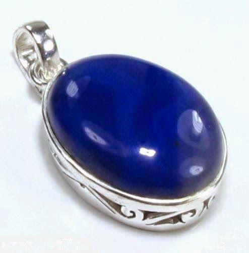 AGATE GEMSTONE STONE RING: Blue Agate
