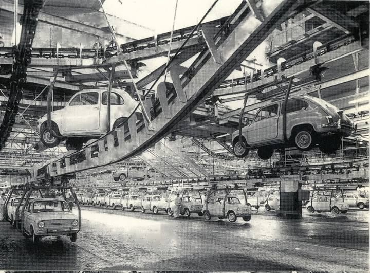 Catena di montaggio della 500. #Fiat #Torino