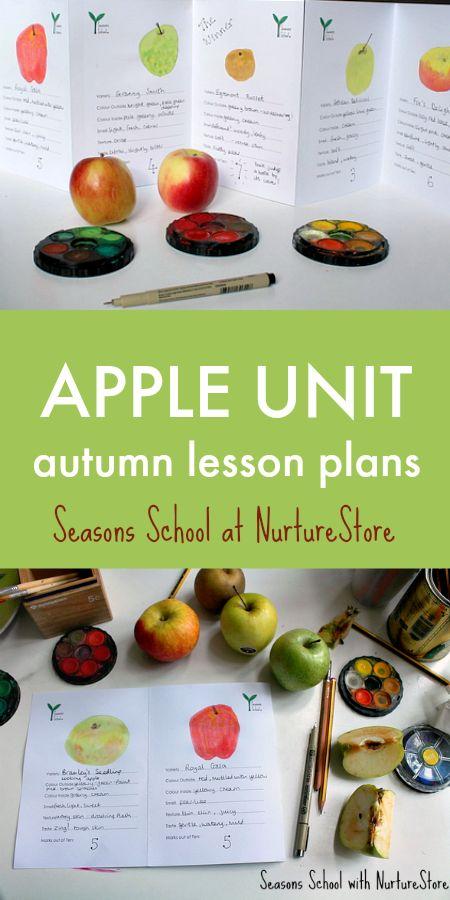 Apple unit, apple lesson plans for elementary, autumn lesson plans, apple crafts, apple activities