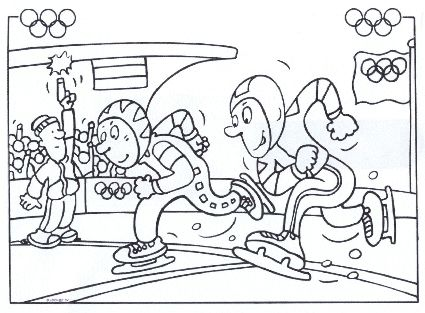 Speed Skating Coloring Page: Winter Olympics Crafts for Kids. #StayCurious