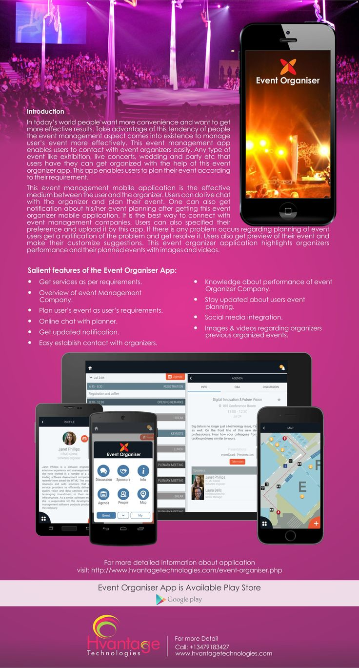 Event #management #app enables users to contact with #event organizers easily. Any type of event like #exhibition, live concerts, #wedding and #party etc that users have they can get organized with the help of this event organizer app. #SEO #PPC