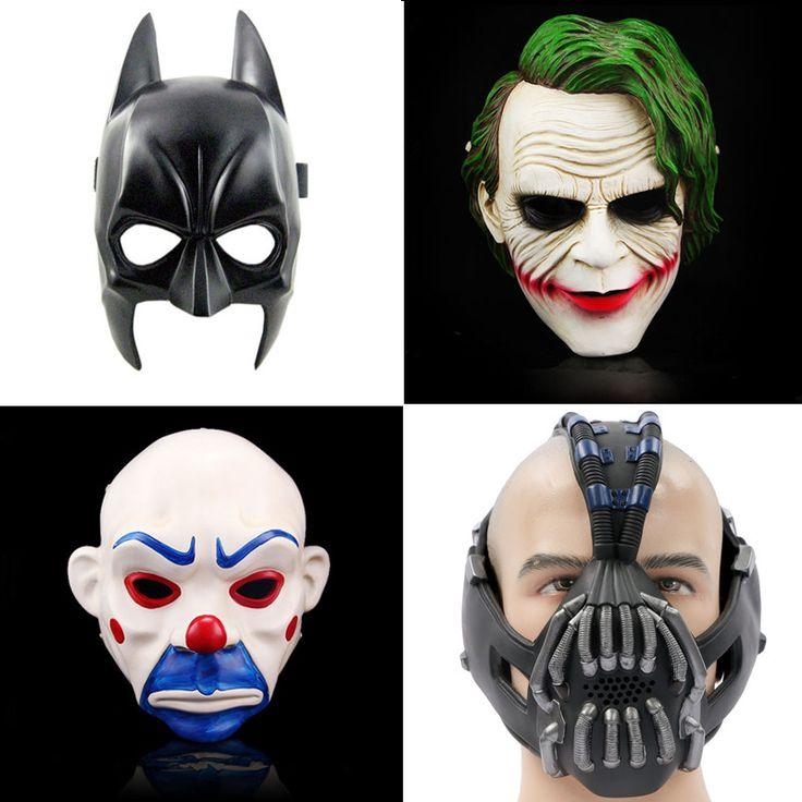 >> Click to Buy << The Dark Knight Batman vs Superman Adult  Adult Batman Latex Full Mask Bane joke Hood Halloween Party Resin Cosplay Clown mask #Affiliate