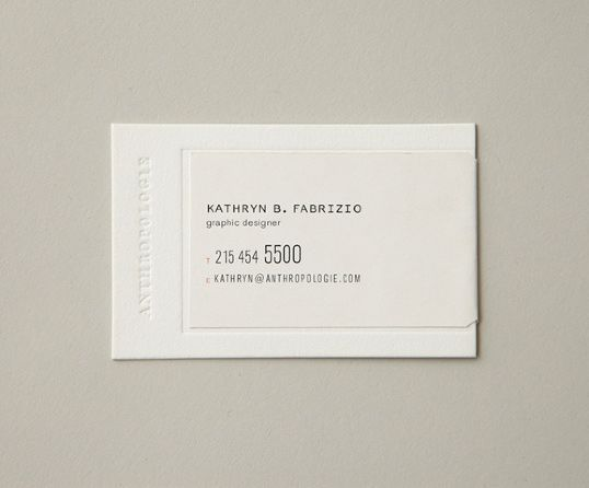 Anthropologie business cards