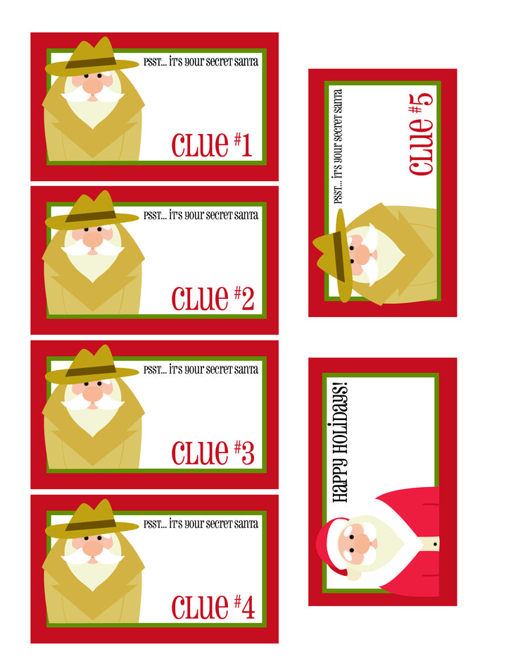 This is a graphic of Sassy Secret Santa Tags Printable