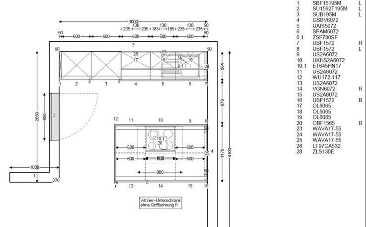 Bildergebnis für küchenplanung grundriss Küchen Pinterest - grundriss küche mit kochinsel