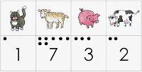 Kleuterjuf in een kleuterklas: Zoek en tel de dieren van de boerderij | Thema BOERDERIJ