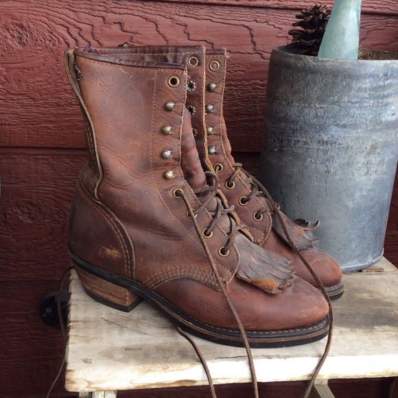 Lace up roper boots These genuine leather lace up cowgirl western boots are in great condition. Shoes Heeled Boots