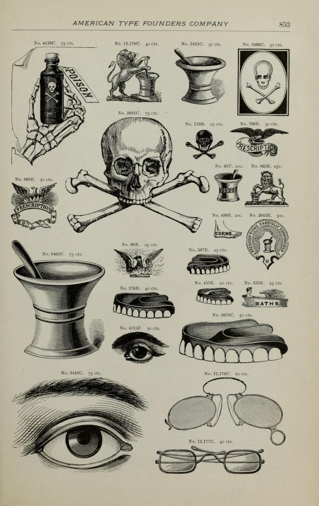 Desk book of type specimens, borders, ornaments...