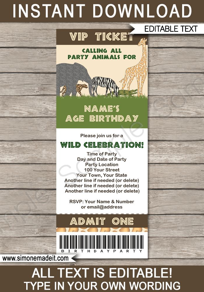 17 Best ideas about Party Invitation Templates on ...