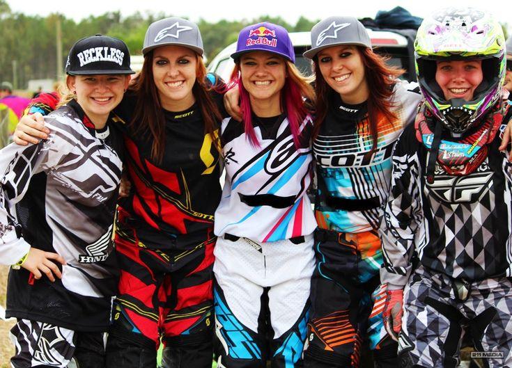 Taylor Higgins, Bryanna Marcotte, Ashley Fiolek, Brittany Marcotte, and Amanda Brown