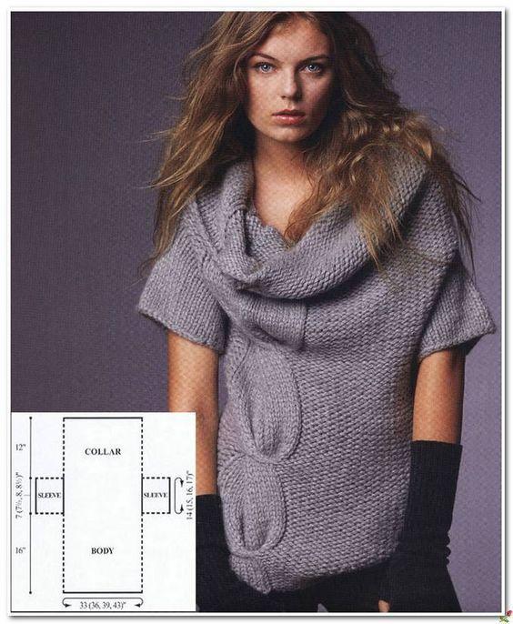 Схема пуловера спицами.. Обсуждение на LiveInternet - Российский Сервис Онлайн-Дневников: