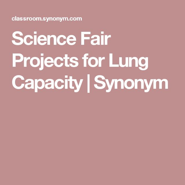 Science Fair Projects for Lung Capacity | Synonym