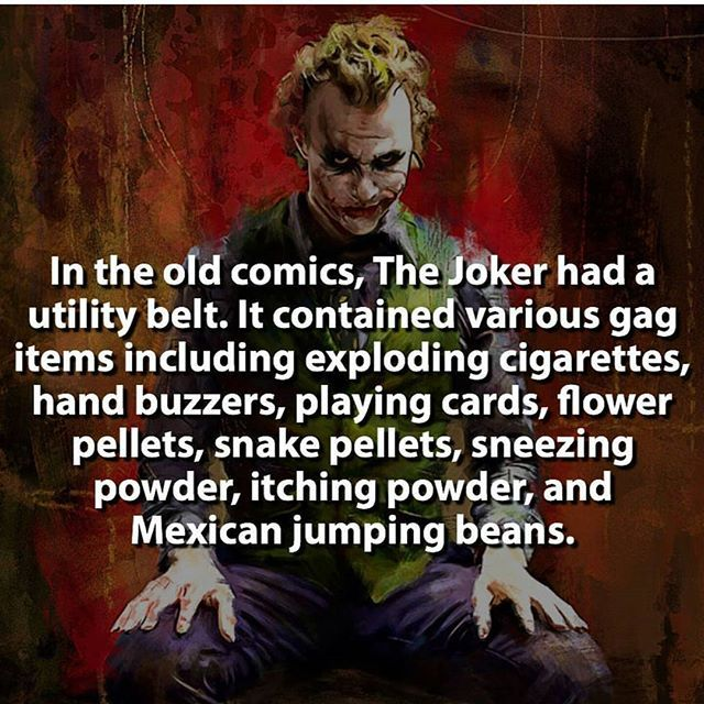I don't usually post villains, but I remembered this from my childhood. Gotta love The Joker!