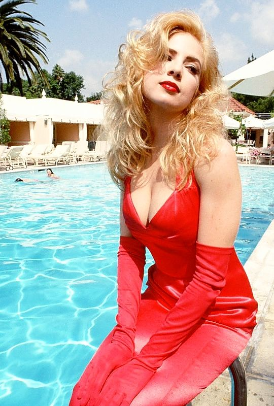 Traci Lords photographed by Peter Turnley, 1992.