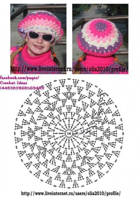 138 best Turbantes, boinas y gorros images on Pinterest | Crochet ...