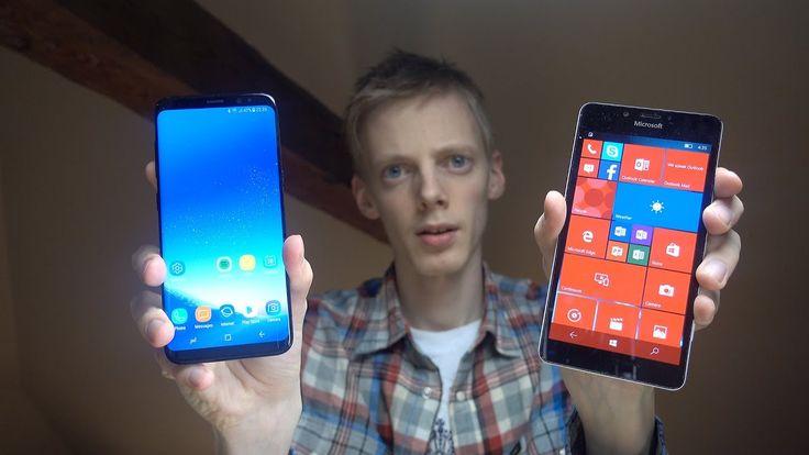 Samsung Galaxy S8 vs. Microsoft Lumia 950 Windows 10 Mobile - Which Is Faster? ======= kelemahan lumia terletak pada kaboard dan sensor responisfnya lambat