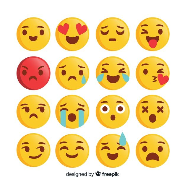 Download Emoticon Reaction Collection For Free In 2020 Emoticon Print Design Template Vector Free