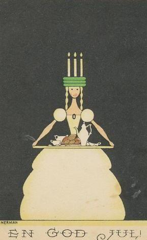 Einar Nerman - Christmas card - 1920