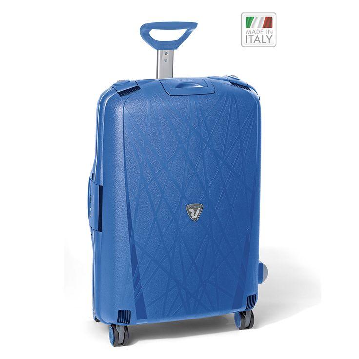 Großer #Reisekoffer Roncato Light bei Koffermarkt: ✓4 Rollen ✓Polypropylen-Hartschale ✓Rahmenkoffer ✓blau ⇒Jetzt kaufen