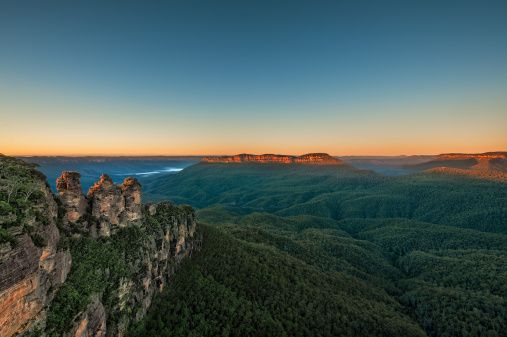 Three Sisters at Sunrise