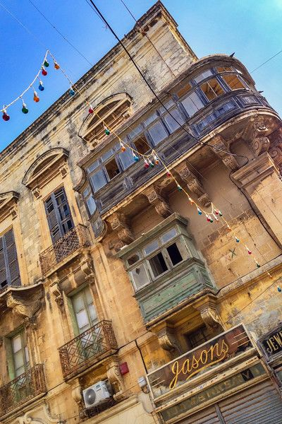 Scenes of urban decay in Valletta, Malta