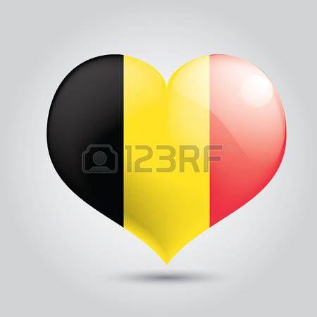 Heart with belgium flag photo