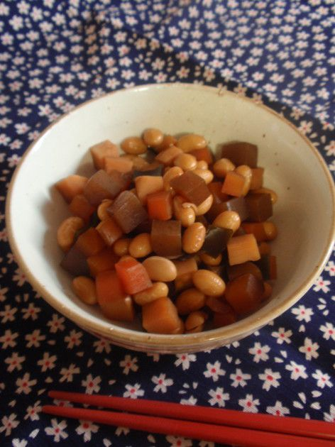 毎日取り入れたい豆類。煮豆にして常備しておけば、いつでも食べられて便利です! 2015.04.05話題入り!