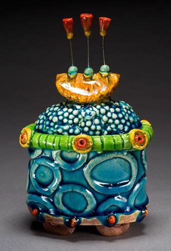 Lisa Muller handbuilt Earthenware clay work work