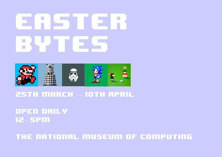 Easter Bytes presented by Bytes Festivals held at the National Museum of Computing, Bletchley Park.  Easter Half Term activities for the kids