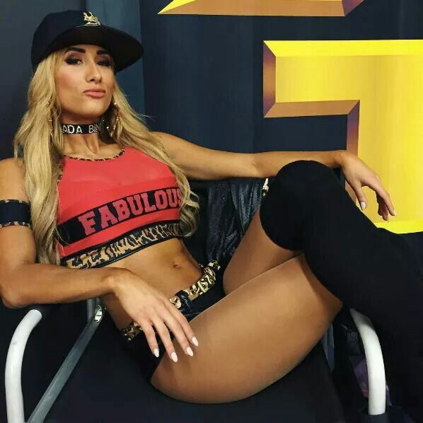 image Carmella bing looking sexy in tigh high black boots