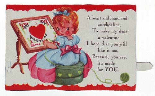 Joking Hazard Vintage Valentines Embroidery And Vintage