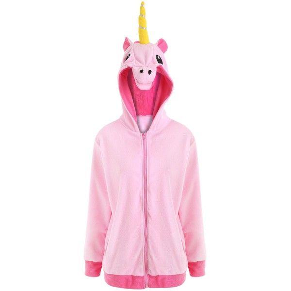 Pink 4xl Plus Size Zip Up Fleece Unicorn Hoodie ($15) ❤ liked on Polyvore featuring tops, hoodies, fleece hoodie, plus size tops, hooded sweatshirt, fleece zip up hoodie and plus size hoodies