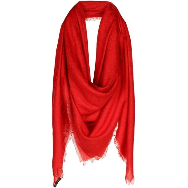Versace Square Scarf ($680) ❤ liked on Polyvore featuring accessories, scarves, red, cashmere shawl, cashmere scarves, red scarves, versace and red shawl